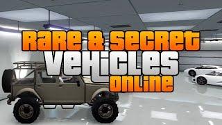 GTA 5 - Rare&Secret Vehicles Online! - Rare&Secret Cars Online!