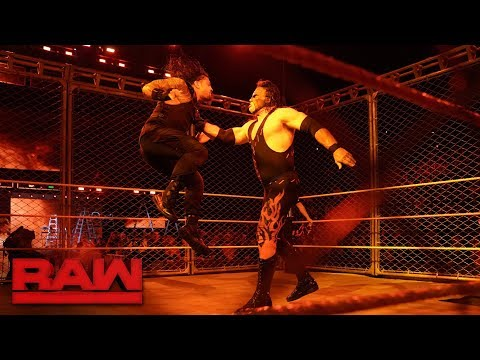 Kane Returns; Roman Reigns vs. Braun Strowman - Steel Cage Match: Raw, Oct. 16, 2017