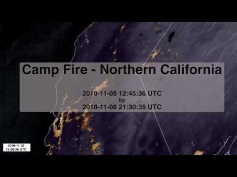 Satellite imagery of the Camp Fire - Northern California