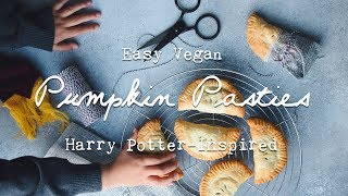 Harry Potter-Inspired Vegan Pumpkin Pasties - baking with a Ravenclaw mama