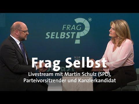"""LIVE: """"Frag Selbst"""" mit Martin Schulz (SPD)"""
