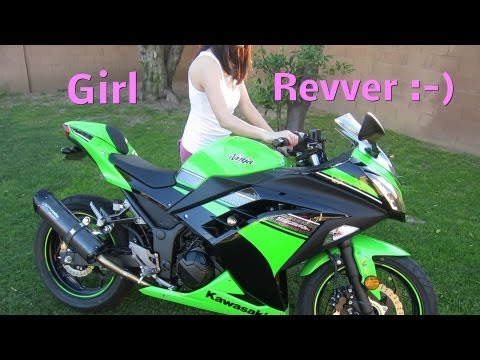 2013 Kawasaki NINJA 300 Revving - Two Brothers Exhaust Black Series