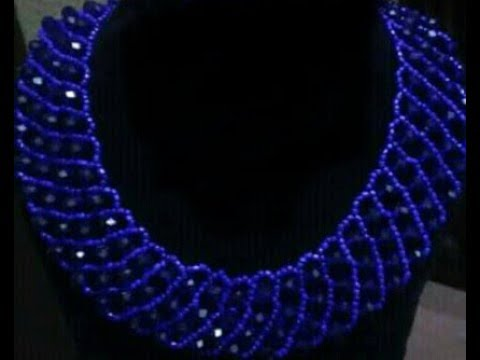 The Tutorial On How To Make This Hand Made Beaded Jewelry Necklace.
