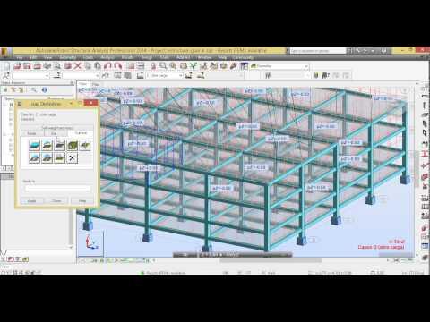 Analisis de edifcio en autodesk robot structural analysis professional 2014 (видео)