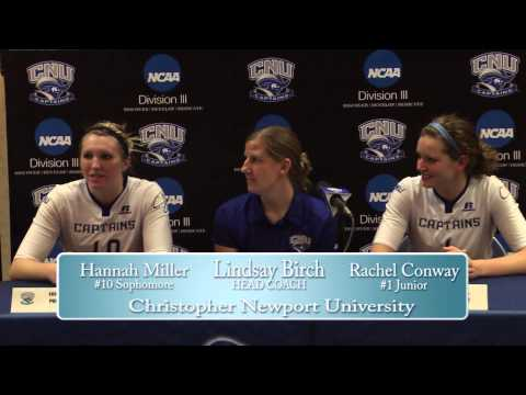 NCAA Volleyball Regional Championship Div III Eastern vs CNU Postgame Press Conference
