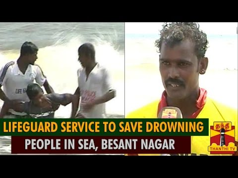 Young Volunteer Lifeguard Service To Save Drowning People