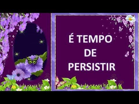 Mensagem de reflexão - LINDA MENSAGEM DE REFLEXÃO -  É TEMPO DE PERSISTIR  - Vídeo para whatSapp