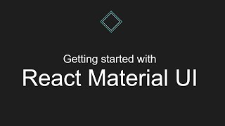 Getting started with React Material UI