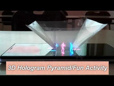 3D Hologram Pyramid/Fun Activity