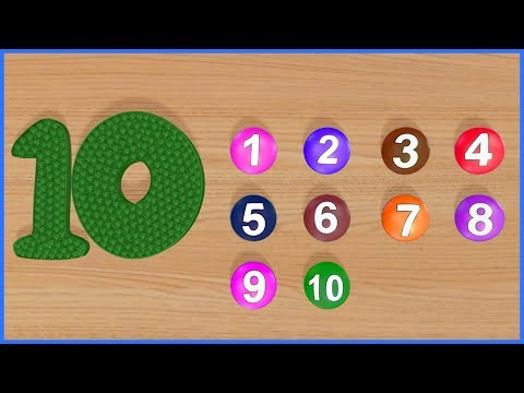 123 Numbers | 1234 Number Names | 1 To 10 Numbers Song | 12345 Number Learning Kids Video