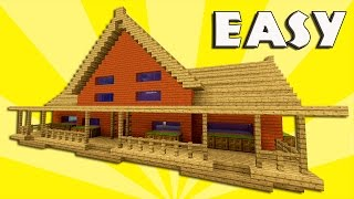 MINECRAFT: How to build a survival house | Farm house tutorial | PS3, PS4, XBOX, MCPE - 1.10