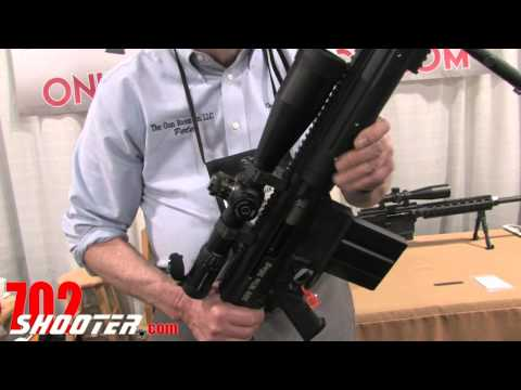 .338 lapua rifles - Peter Noreen from The Gun Room Co. LLC shows us their new .338 Lapua & .300 Win Mag AR Rifles at the 2011 SHOT Show. More info at: http://www.702shooter.com/...