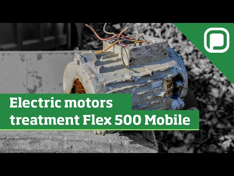 Roll off Hammer Mill – FLEX 500 MOBILE | WEEE (RAEE) transformers and electric motors processing
