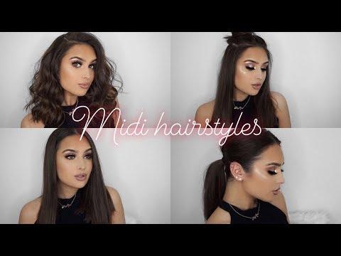 Easy hairstyles - MIDI LENGTH HAIRSTYLES - SIMPLE & EASY!!