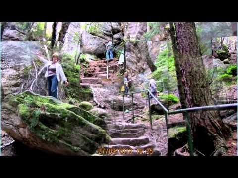 Видео.Путешествия.Природа.Чехия.(Чешский Рай)Праховские скалы!!!!!!!!! (видео)