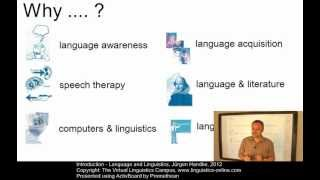 Linguistic Fundamentals - Language and Linguistics