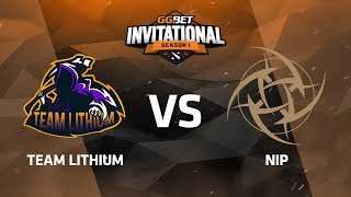 Team Lithium против Ninjas in Pyjamas Третья карта, Группа А, GG.Bet Dota 2 Invitational