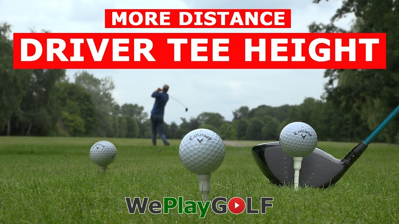 Get maximum distance with the correct tee height for your driver