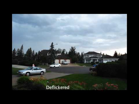 deflicker - As you can see in the original sequence there is slight flicker in the clouds and less so in the foreground. The second sequence was run through the MSU defl...