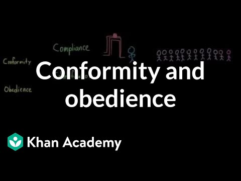 Conformity and obedience (video) | Behavior