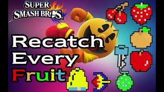 Recatching every single one of Pac-Man's fruits, on every single stage in Smash 4