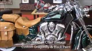 4. 2015 Indian Chief Vintage Custom Paint Dragonfly Green & Black