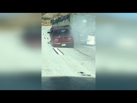 Video Truck Driver Doesn't Realize He's Dragging Car Along Highway for a Half Mile download in MP3, 3GP, MP4, WEBM, AVI, FLV January 2017