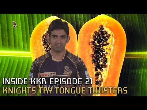 Knights try tongue twisters | Inside KKR - Episode 21 | VIVO IPL 2016