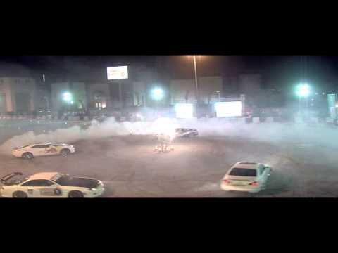 Abdo Feghali 4 cars Drift 2012 Khobar Red Bull car park Drift