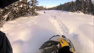 6. Snowmobiling full throttle - tundra 550f summit 600 and 800 e-tec in powder snow !