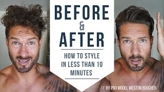 Video How To Style Men's Hair Like A Pro In Less Than 10 Minutes : Hairstyle Tips by LA Model MP3, 3GP, MP4, WEBM, AVI, FLV Mei 2019