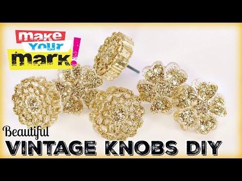 Beautiful Vintage Knobs DIY With Craft Glaze Coat