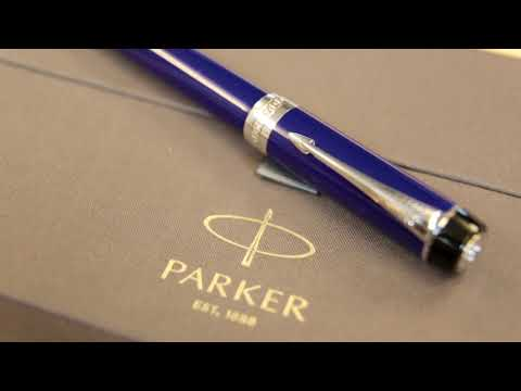 1907184 Перьевая ручка Parker (Паркер) Duofold Historical Colors International Lapis Lazuli GT F