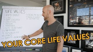 "Join Life Mastery Accelerator:http://lifemasteryaccelerator.com/In this video, I share with you an exercise on how to determine your core life values.Through this process, we are going to discover whether your current values are propelling you forward, or holding you back. Our values form the foundation of our lives; they determine the decisions that we make and the direction that our lives take. In the words of John C. Maxwell, ""Your core values are the deeply held beliefs that authentically describe your soul."" The first step is to acknowledge and take responsibility for the life that you have created.If your values aren't in alignment with your vision, there will be resistance, in the form of a tremendous amount of push, effort, and willpower. Alternatively, when you align with what you truly desire in life, you will experience more ease, less effort, and a greater sense of fulfillment.If you want to determine your core life values, start by figuring out what's REALLY important to you. Once you do, you can then choose beliefs and habits that ensure that your life aligns with those values. As life changes so do your values, and that is OK. The important thing is that you are aware and take the steps that are necessary in order to bring yourself closer to living in alignment with your true self. Roy E. Disney said it best - ""It's not hard to make decisions once you know what your values are."" Are you ready to determine your core life values?★☆★ VIEW THE BLOG POST: ★☆★http://projectlifemastery.com/core-life-values/★☆★ SUBSCRIBE TO ME ON YOUTUBE: ★☆★Subscribe ► http://projectlifemastery.com/youtube★☆★ FOLLOW ME BELOW: ★☆★Blog ► http://www.projectlifemastery.comTwitter ► http://www.projectlifemastery.com/twitterTwitter ► http://www.twitter.com/stefanjames23Facebook ► http://www.projectlifemastery.com/facebookFacebook ► http://www.facebook.com/stefanjames23Instagram ► http://projectlifemastery.com/instagramInstagram ► http://www.instagram.com/stefanjames23Snapchat ► http://projectlifemastery.com/snapchatPeriscope ► http://projectlifemastery.com/periscopeiTunes Podcast ► http://www.projectlifemastery.com/itunes★☆★ MY PRODUCTS & COURSES: ★☆★Life Mastery Accelerator ► http://www.lifemasteryaccelerator.comOnline Business Mastery Accelerator ► http://www.onlinebusinessmasteryaccelerator.comMorning Ritual Mastery ► http://www.morningritualmastery.comAffiliate Marketing Mastery ► http://www.affiliatemarketingmastery.comKindle Money Mastery ► http://www.kmoneymastery.com24 Hour Book Program ► http://www.24hourbook.comKindle Optimizer ► http://www.koptimizer.com★☆★ MERCHANDISE: ★☆★Mastery Apparel ► http://www.masteryapparel.com★☆★ RECOMMENDED RESOURCES: ★☆★http://www.projectlifemastery.com/resourcesIf you found this video valuable, give it a like.If you know someone who needs to see it, share it.Leave a comment below with your thoughts.Add it to a playlist if you want to watch it later."