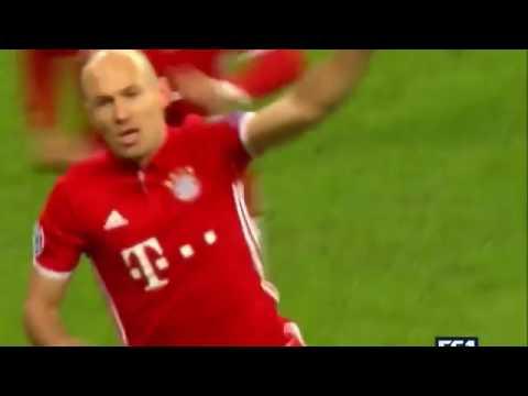 Golazo de Arjen Robben... Bayern München 5-1 Arsenal (Ida Octavos de Champions League 2017)