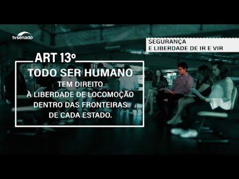 Declaração de Direitos Humanos: estudantes debatem direito à locomoção e à segurança