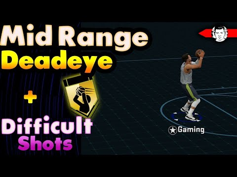 *FASTEST METHOD* UNLOCK DIFFICULT SHOTS AND Mid- Range DEADEYE AT THE SAME TIME in NBA 2K18