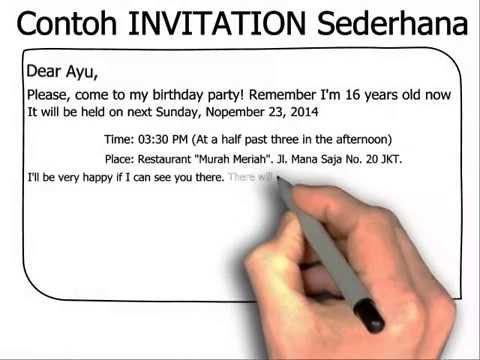 How to write an invitation card agsha pengertian invitation undangan bahasa inggris dan generic structure stopboris Choice Image