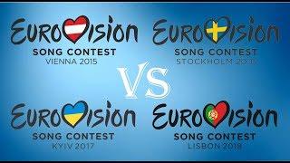 Video Eurovision 2015 vs 2016 vs 2017 vs 2018: The battle MP3, 3GP, MP4, WEBM, AVI, FLV Juli 2018