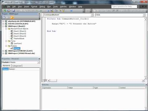 Showing and Hiding Forms Using VBA