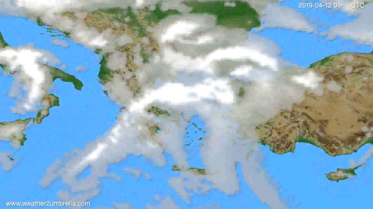 Cloud forecast Greece // modelrun: 12h UTC 2019-04-09