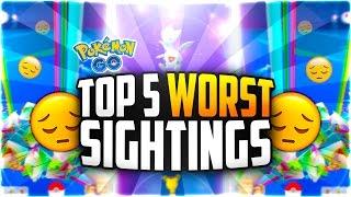 Pokemon Go - The Top 5 WORST Pokemon Go Sightings (LOWEST CP RARE POKEMON EVER!), pokemon go, pokemon go ios, pokemon go apk