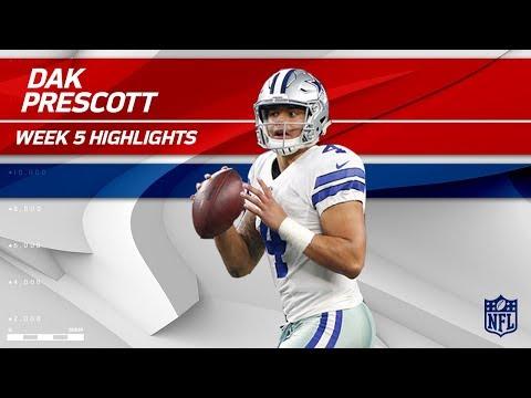 Video: Dak Prescott Pulls Off 4 TD Day vs. Green Bay!   Packers vs. Cowboys   Wk 5 Player Highlights