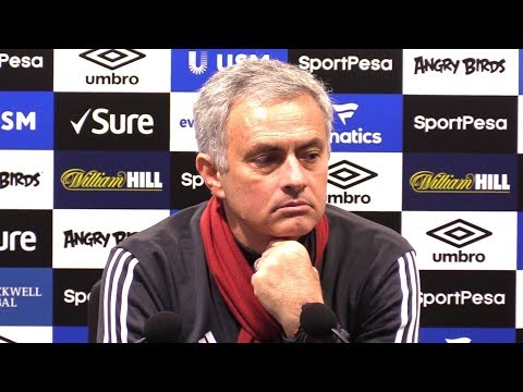 Everton 0-2 Manchester United - Jose Mourinho Post Match Press Conference - Hits Back At Scholes (видео)