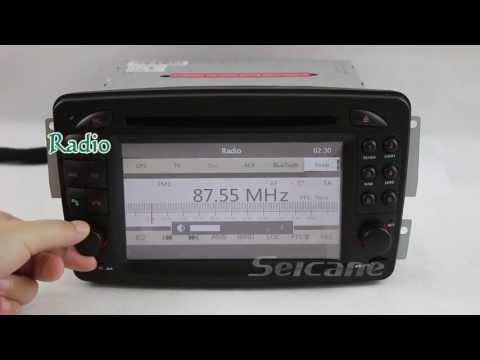 Car original stereo replacement upgrade for Mercedes Benz MB CLK W209 dvd gps