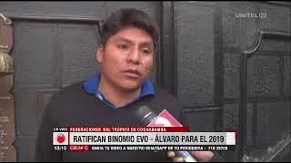 Federaciones del Trópico de Cochabamba ratifican el binomio Evo – Álvaro
