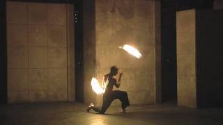 Mark H fire dance demo;  deathstars, poi, staff, and double st...