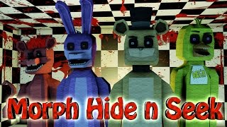Minecraft | MORPH HIDE AND SEEK - Five Nights at Freddy's! (5 Nights at Freddys, Freddy, Bonnie)