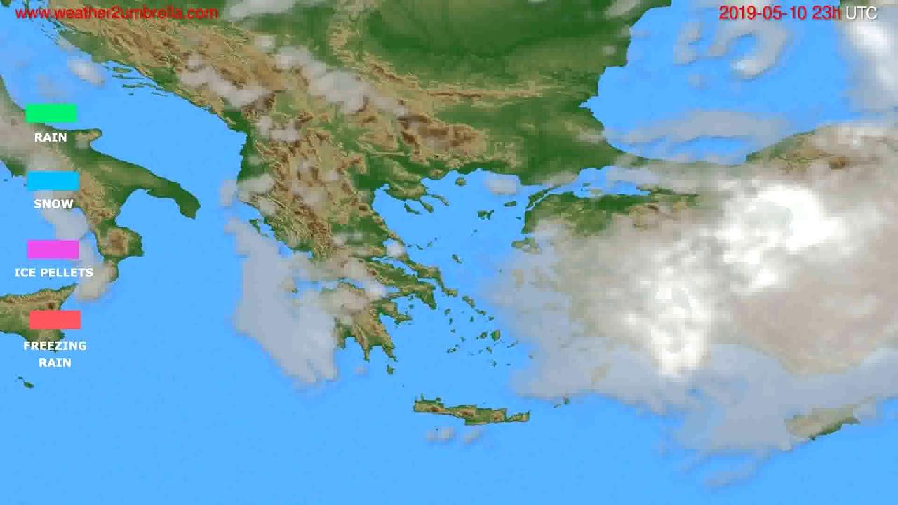 Precipitation forecast Greece // modelrun: 12h UTC 2019-05-07