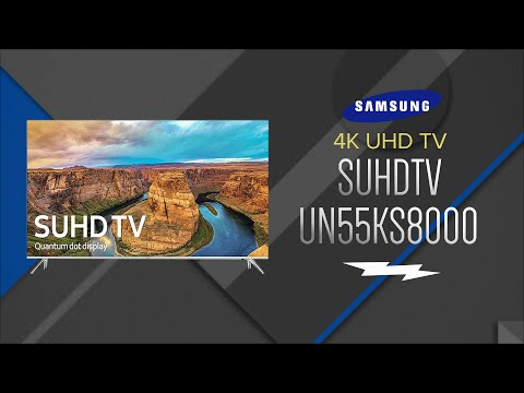 Samsung 55 SUHD 4K LED Smart HDTV UN55KS8000FXZA - Overview